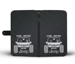 Happy Puppin Jeep Phone Case Wallet