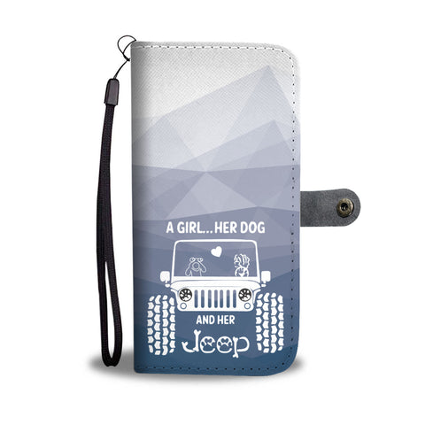 Happy Puppin Her Jeep Phone Case Wallet