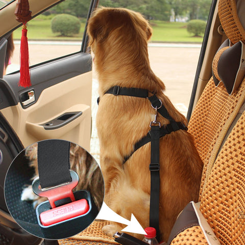 Fypo Dog Seat Belts, Dog Car Safety Harness Vehicle Stabilizer with Metal Clips