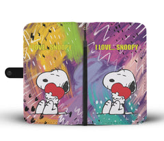 I Love Snoopy Phone Case Wallet