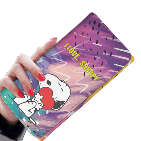 I Love Snoopy Tri-Fold Wallet