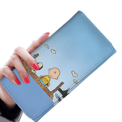 Charlie Brown & Snoopy On Dock Tri-Fold Wallet