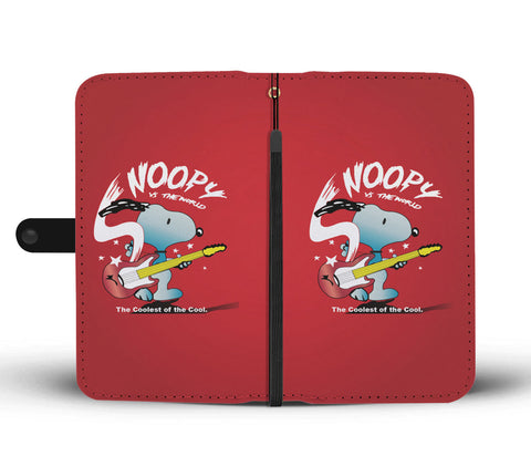 Snoopy Guitar Phone Case Wallet
