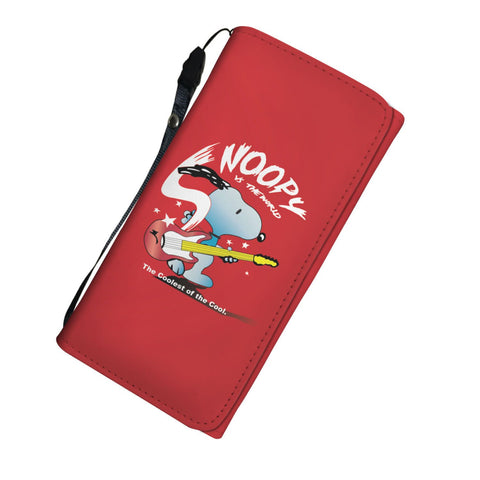 Snoopy Guitar Tri-Fold Wallet