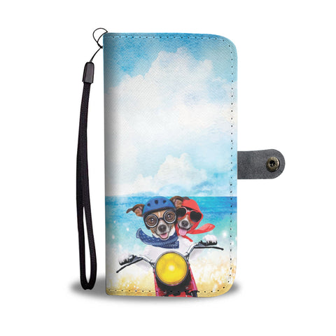 Happy Puppin Motorcycle Phone Case Wallet