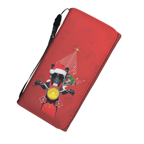 Happy Puppin Holiday Biker Tri-Fold Wallet