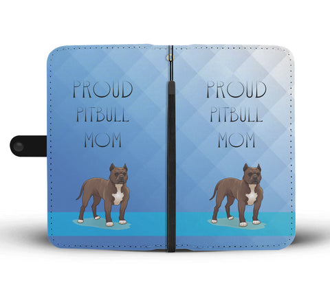 Happy Puppin Pitbull Mom Phone Case Wallet