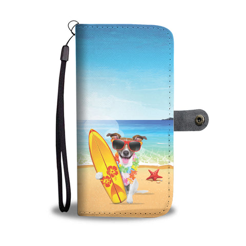 Happy Puppin Surfer Dog Phone Case Wallet