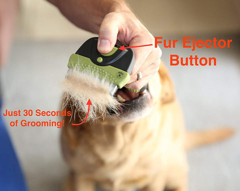 MoJo PetsLife Dog Brush with Fur Ejector Button