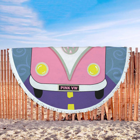 Pink VW Beach Blanket