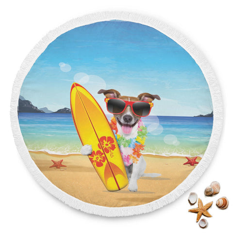 Surfer Dog Beach Blanket