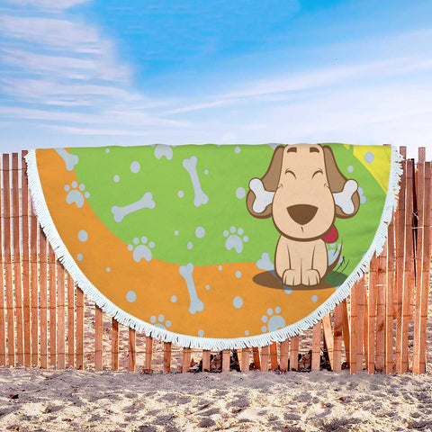Happy Puppin Beach Blanket