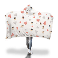 Pug Love Hooded Blanket