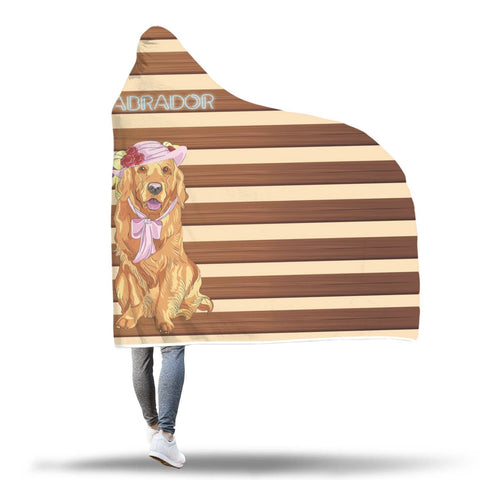 Mrs. Labrador Hooded Blanket