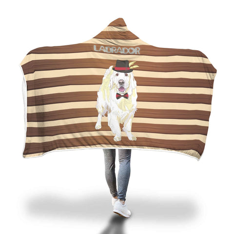 Mr Labrador Hooded Blanket