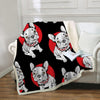 Image of French Bulldog Sherpa Fleece Blanket