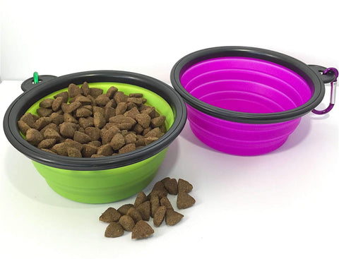 Happy Puppin Silicone Collapsible Dog Bowl