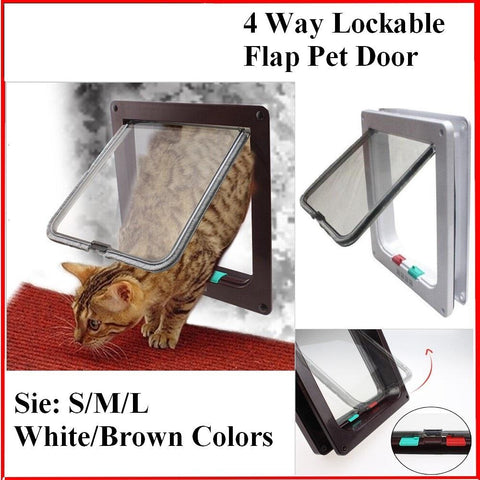 4 Way Pet Magnetic Lockable Door