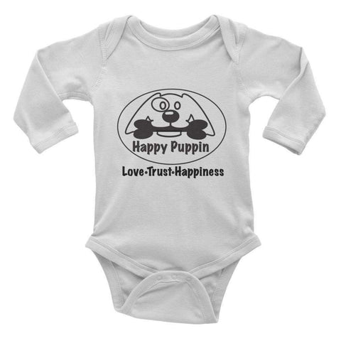 Infant long sleeve one-piece Dog themed onesie