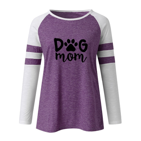 Dog Mom Long Sleeve T-Shirt