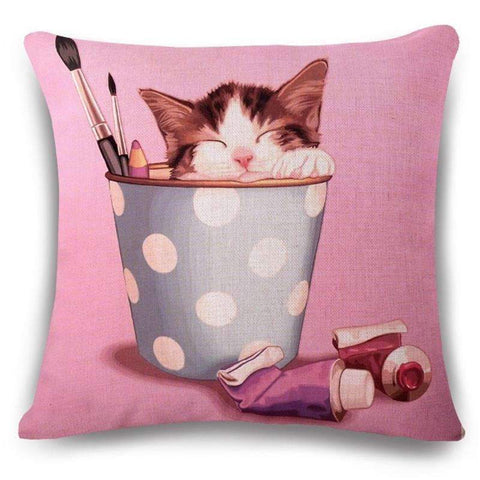 Happy Puppin Pink Series Pillow Covers