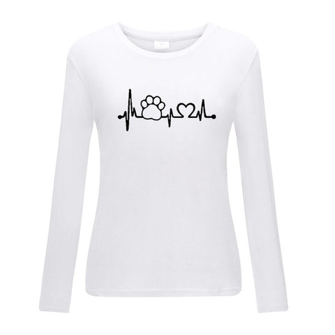 Dog Heartbeat Long Sleeve T-Shirt