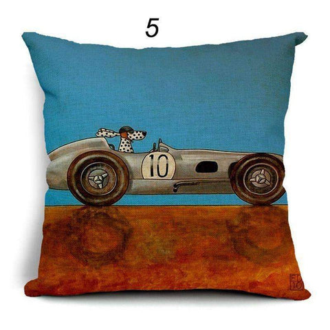 Happy Puppin Cars Series Pillow Covers