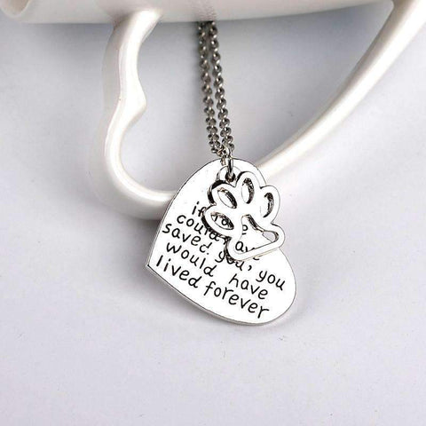 """If love could have saved you, you could have lived forever"" Heart Shape Pendant Necklace"