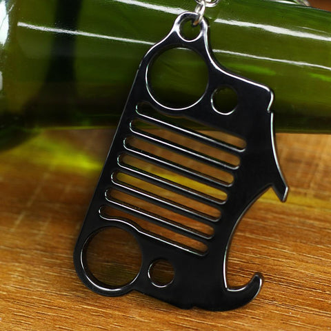 Stainless Steel Jeep Keychain Bottle Opener