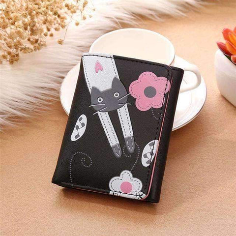 "Designer ""Flowers"" Square Cat Wallet"