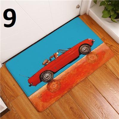 Happy Puppin Cars Series Door Mat