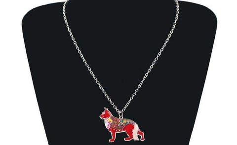 German Shepherd Dog Necklace 6 Different color combinations