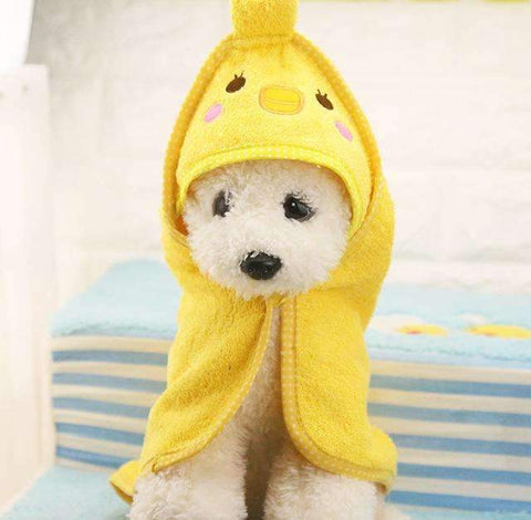 Cute Pet Drying Bath Towel