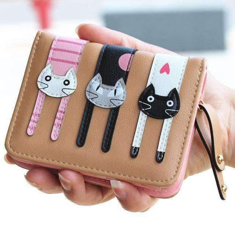 Designer Three Cat Wallet