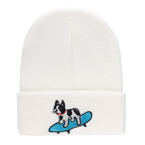 New Winter Dog Embroidery Cap