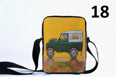 Dogs Driving Cars Messenger Bag
