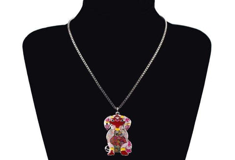 Labrador Dog Pendant Necklace 6 Colors