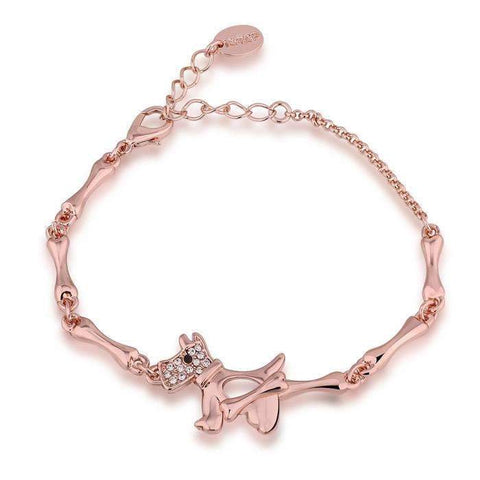 Dog Bone Bracelet 18K Rose Gold