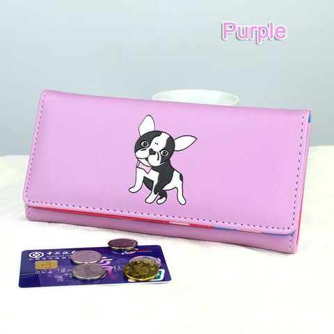 Colorful French Bulldog Wallet