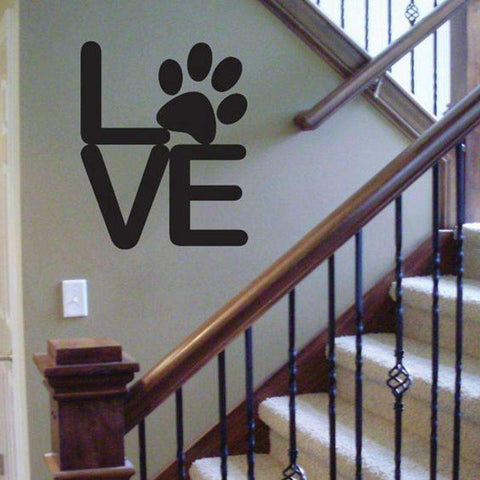 Love Paw Decal Wall Sticker