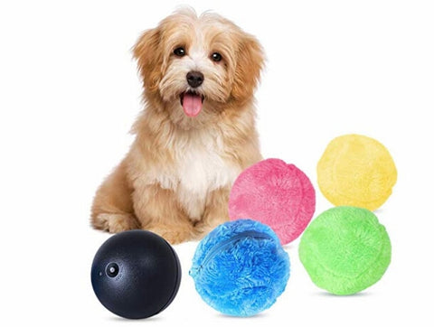 Happy Puppin Automatic Rolling Ball Dog Toy & Floor Cleaner