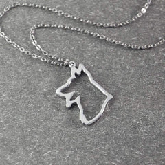 German Shepherd Pendant Necklace