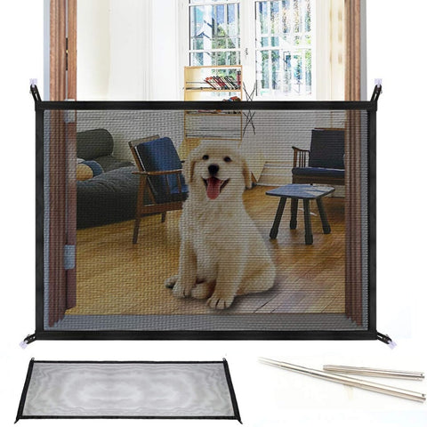 Easy Install Mesh Pet Gate for Hallways, Doorways, Stairwells