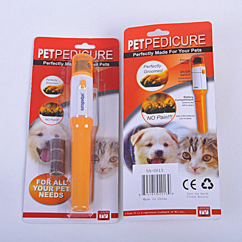 Hot Dog Accessories 2019 Newest Dog Supplies Pet Electric Pet Nail Clipper nail polisher Cute Cat Dogs Pet Claw Nail Grooming