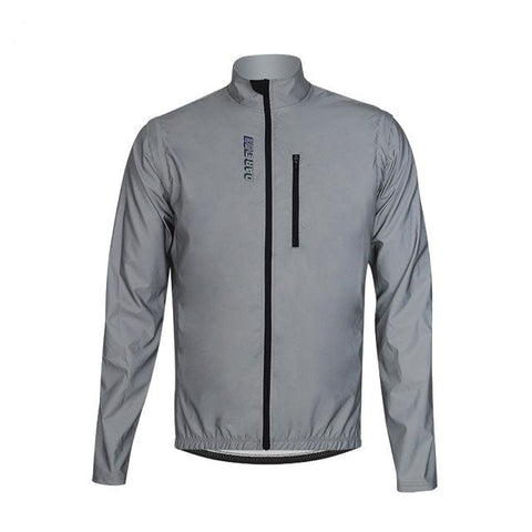 Reflective jacket with removable sleeves