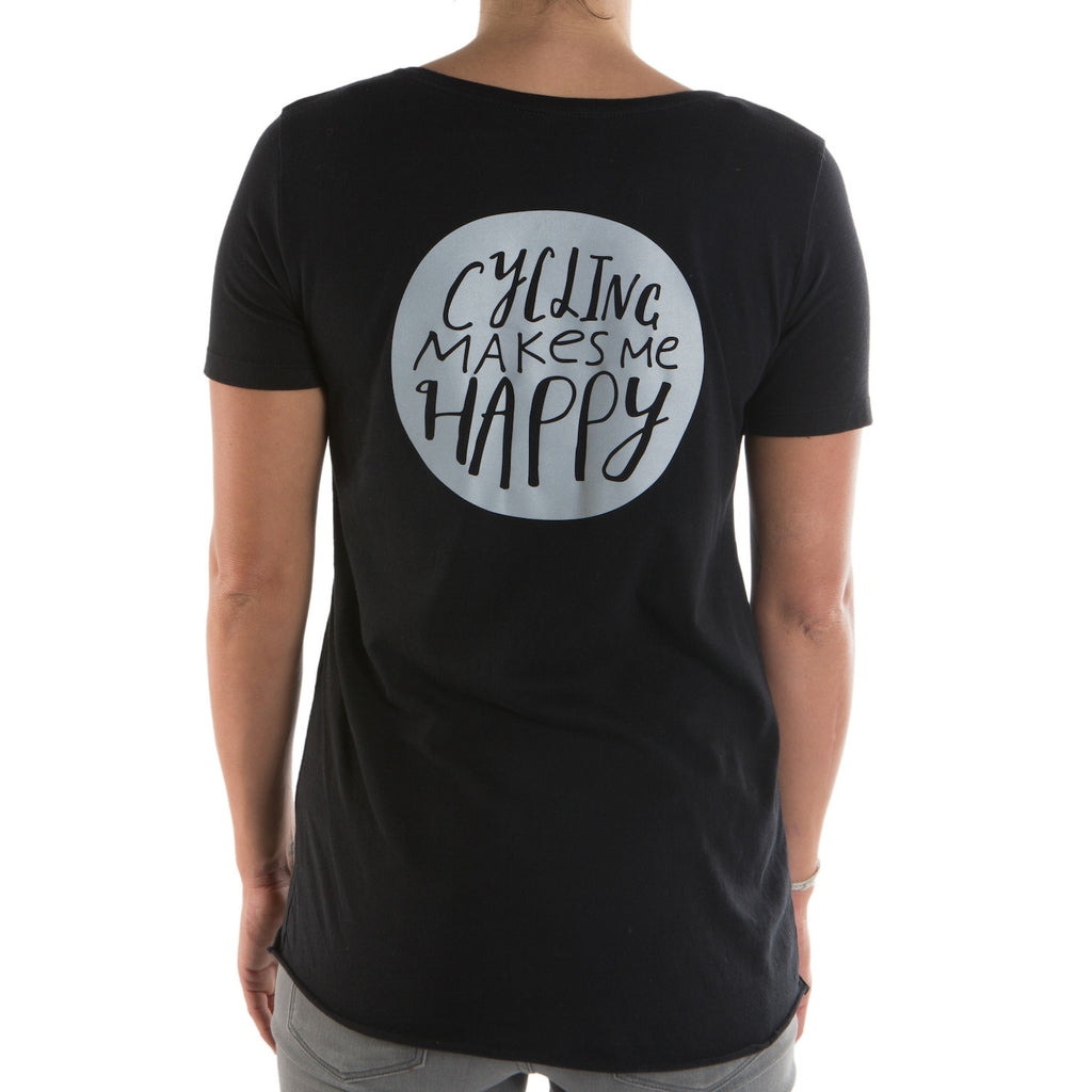 Women's Cycling Makes Me Happy T-Shirt