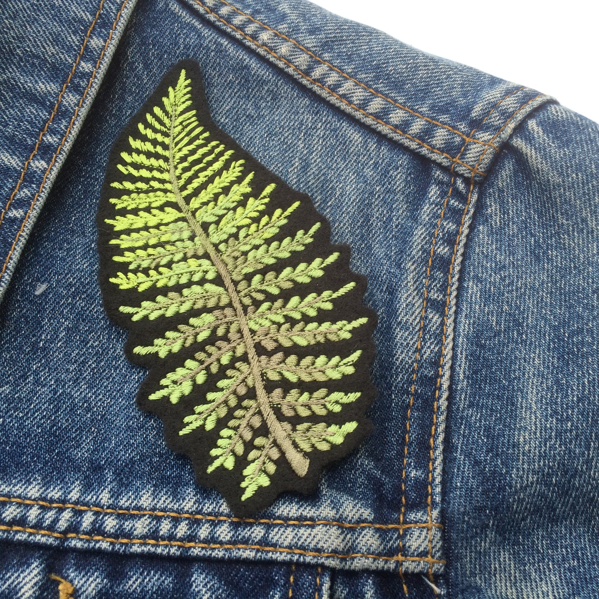 Fern embroidered patch ellie mac embroidery
