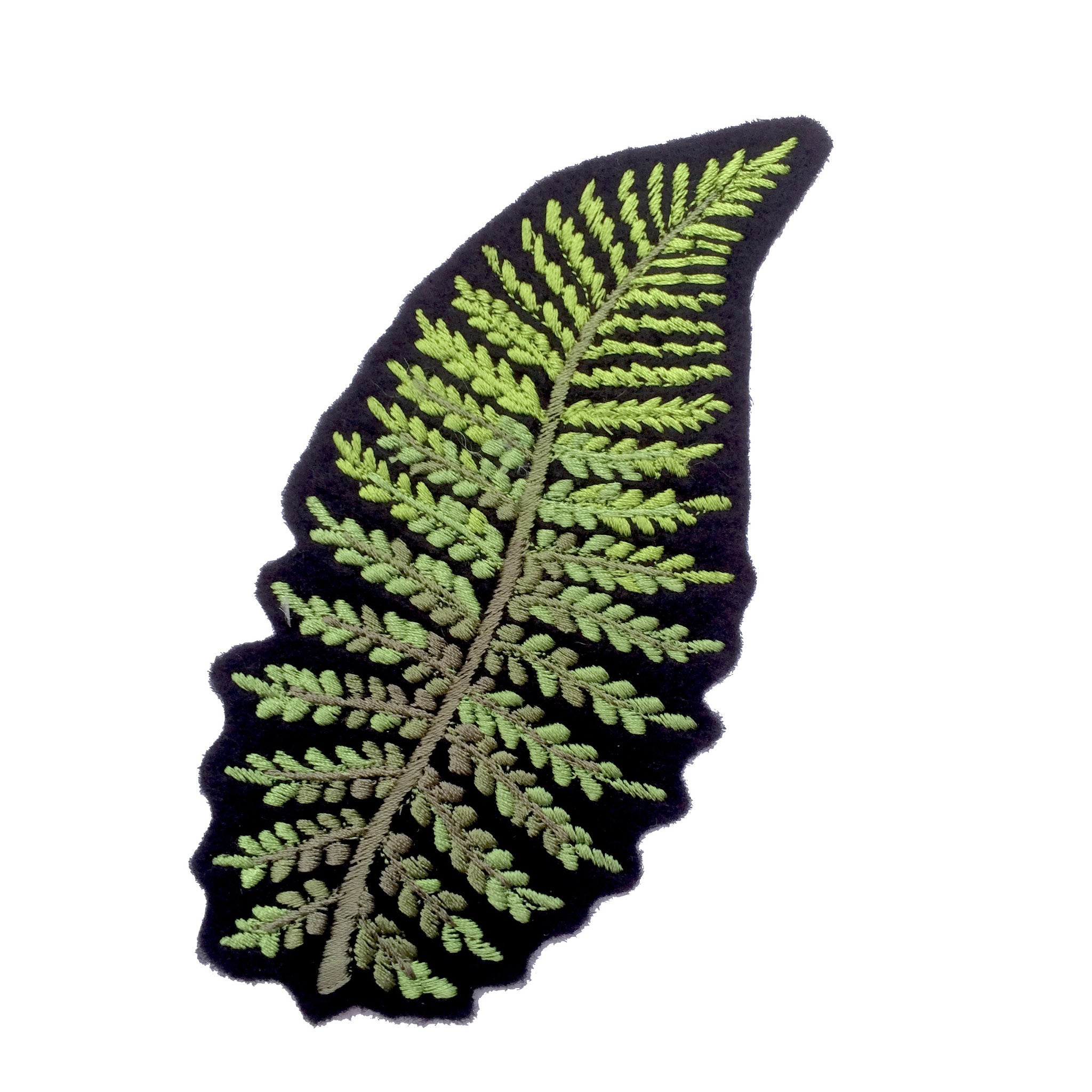 Fern Embroidered Patch 002