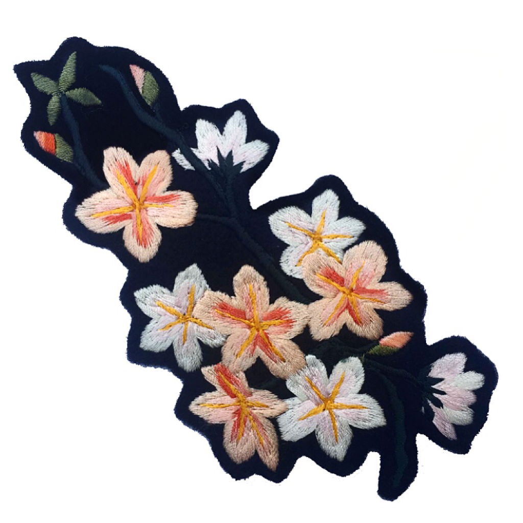Blossom Embroidered Patch 026
