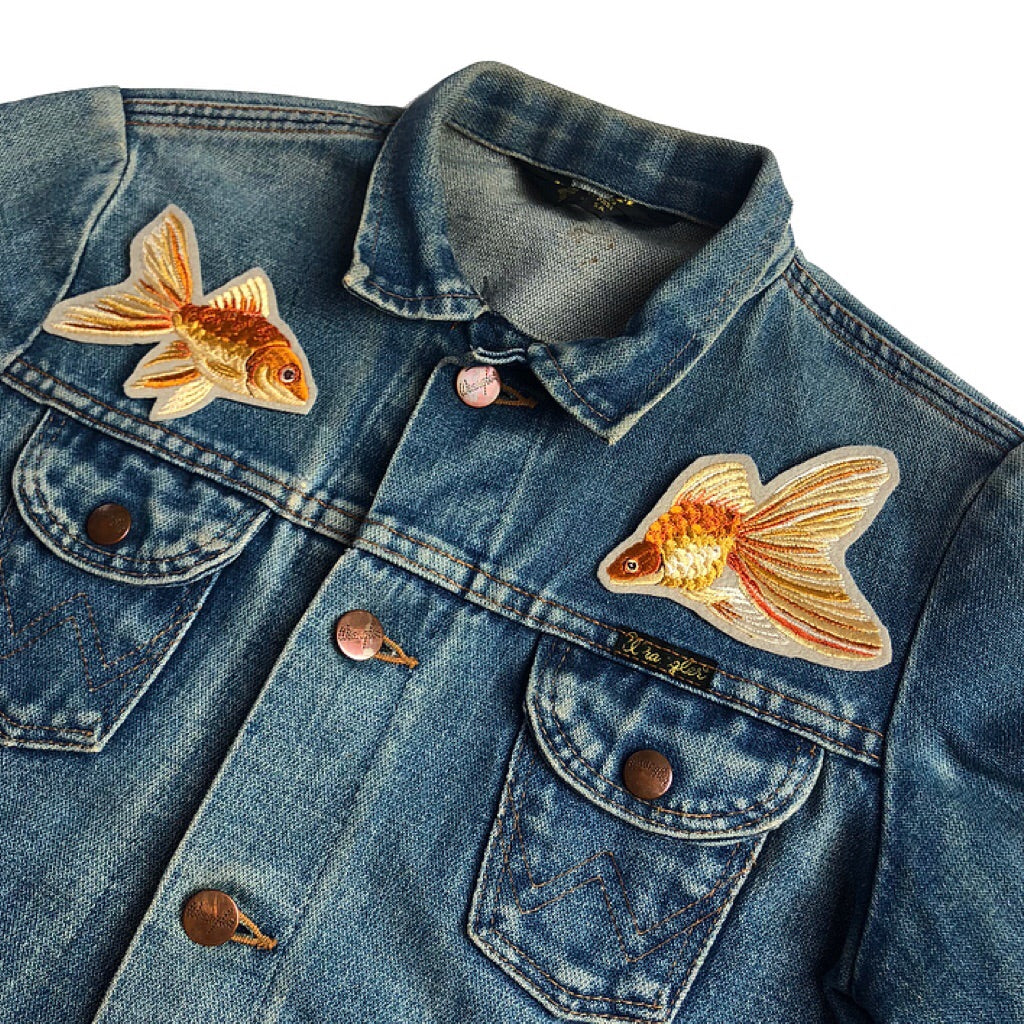 Pair of embroidered Goldfish LTD Edition 046